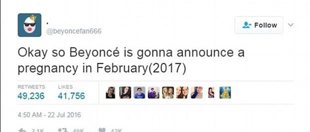Twitter Beyoncé (Foto: Reprodução)