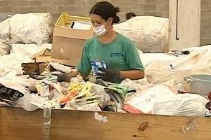 Coleta seletiva tem aumento de 20% na região de Sorocaba, SP (Foto: Reprodução/TV Tem)