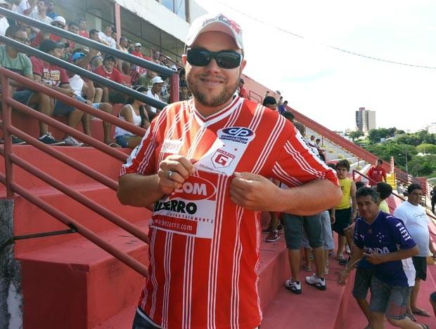 Pedro Henrique de Souza torcedor Guarani-MG Divinópolis MG Farião (Foto: Marina Alves)