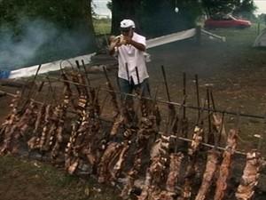 Festa do churrasco movimentou Bagé (Foto: Reprodução/RBS TV)