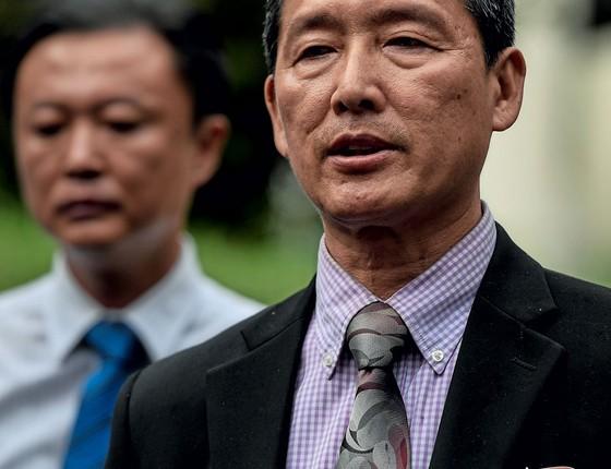 O ex-embaixador da Coreia do Norte na Onu Ri Tong II negou que o meio irmão do ditador Kim Jong-un tenha sido morto por envenenamento (Foto:   Mohd RASFAN/AFP)