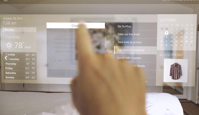 Novos óculos inteligentes pemitem 'tocar' objetos virtuais (Foto: Reprodução/Indiegogo)