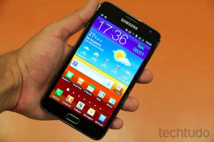 Galaxy Note vem com tela de 5,3 polegadas (Foto: Allan Mello/TechTudo)