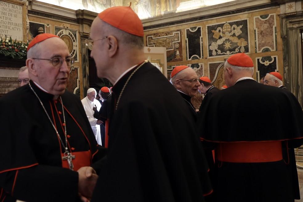 Papa Francisco defende maior destaque para mulheres na Igreja Católica (Foto: Gregorio Borgia/AP )