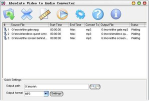 Absolute Video to Audio Converter*