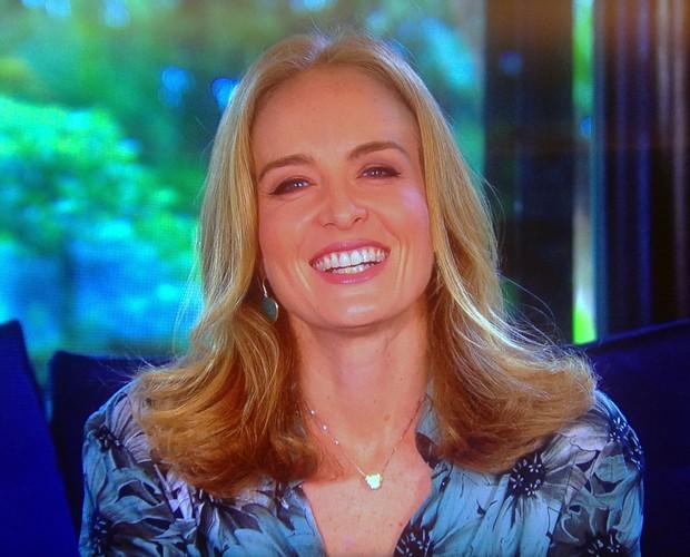 Angélica agradece carinho por ela e pela família (Foto: Estrelas/TV Globo)