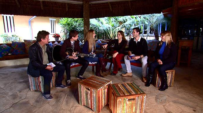 Os pais dos irmãos Bruno e Camila também participaram da conversa (Foto: reprodução EPTV)