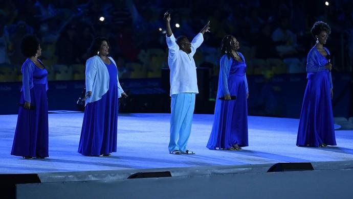 Festa de encerramento Olimpíada Rio de Janeiro Maracanã (Foto: David Ramos / Getty Images)