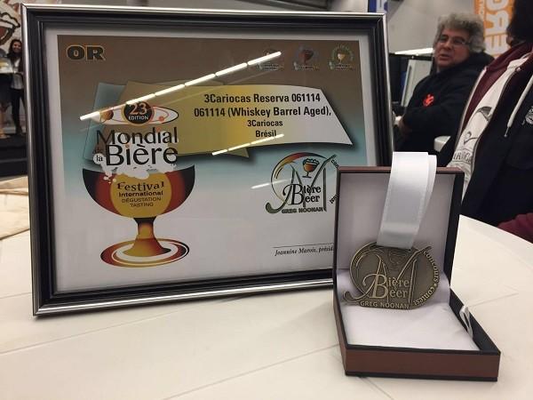 O prêmio recebido pela cervejaria carioca