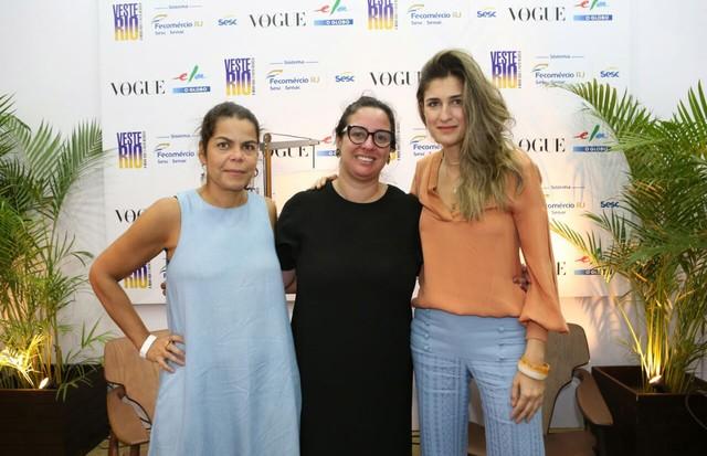 Daniela Falcão, Silvia Rogar e Barbara Migliori, da esquerda para a direita (Foto: Reginaldo Teixeira)