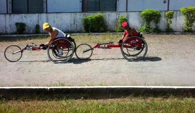 Paratletismo Santos (Foto: Divulgação / Fast Whells)