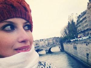Kimberly Amber Vieira, que viajou para Paris (Foto: Arquivo pessoal)