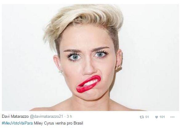 Miley Cyrus  (Foto: Reprodução / Twitter)
