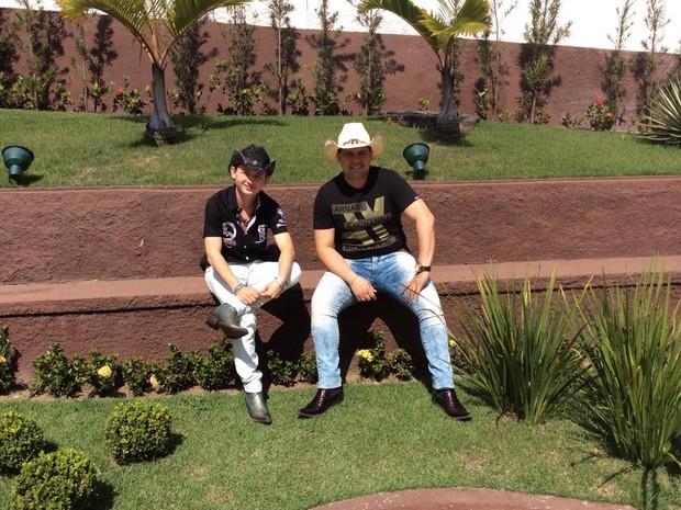 Marcus Paulo e Alecsandro gravaram DVD na Festa do Peão de Volta Redonda (Foto: Cristiane Mendes/G1)