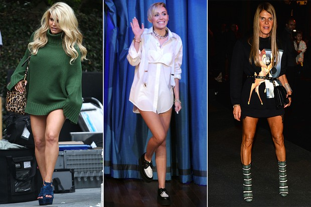 X17 - MODA - Look pantless - Jessica Simpson, Miley Cyrus, Anna Dello Russo (Foto: X17 | Getty Images)