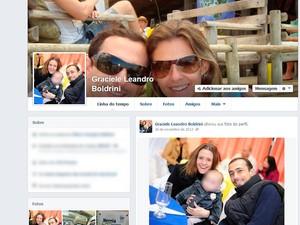 Graciele Leandro Boldrini casal com filho desaparecimento Bernardo Três Passos RS (Foto: Reprodução/Facebook)