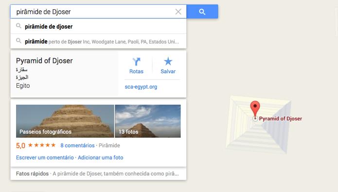 Passeios fotográficos do Google Street View na Pirâmide de Djoser, Egito (Foto: Reprodução/Google)