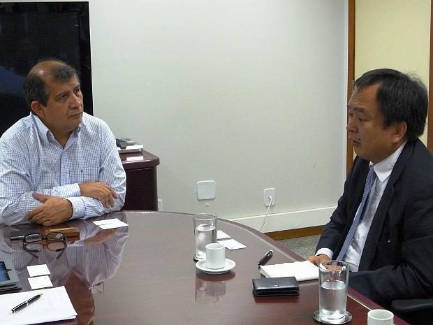 Presidente da Sony no Brasil se reuniu com superintendente da Suframa (Foto: Diego Queiroz/Suframa)