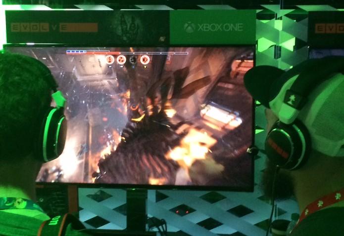 Evolve traz modo multiplayer divertido e com novidades na E3 2014 (Foto: Monique Mansur/ TechTudo)