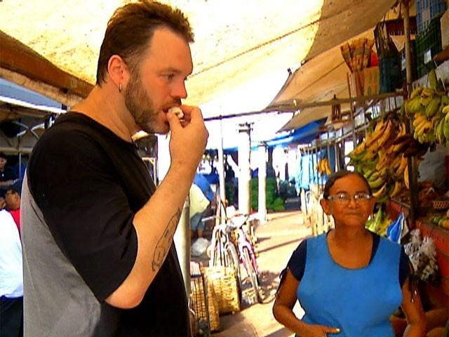 Ogro Jimmy passeou pelo Mercado 'Ver o Peso', em Belém do Pará (Foto: Mais Você/ TV Globo)