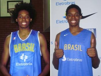 Basquete Lucas Bebê (Foto: Montagem sobre foto do Globoesporte.com)