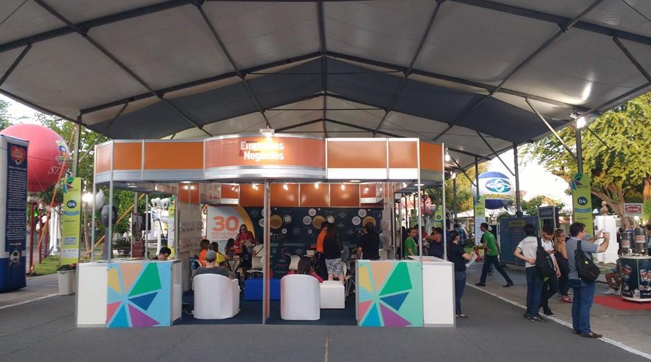 Praça São João, em Sobral: local recebeu a Feira do Empreendedor (Foto: Fabiano Candido)