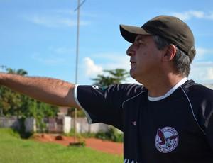 Oton Sales, técnico do Juventus-AC (Foto: Nathacha Albuquerque)