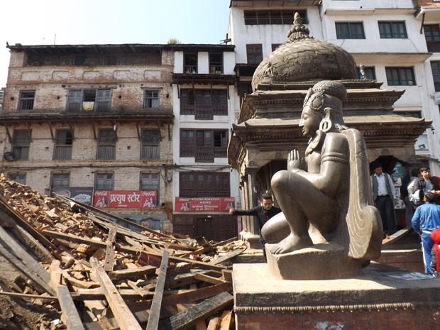 Baiano registra imagens do Nepal após terremoto (Foto: Manoel Tenório/Arquivo Pessoal)