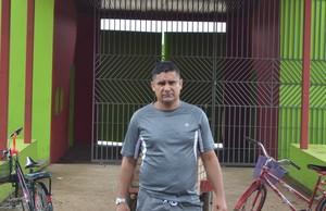 Sairo Vieira Santos, ex-jogador de futebol e morador de Tarauacá (Foto: Yuri Marcel/G1)