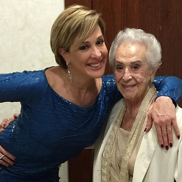 Claudia Raia e sua mãe (Foto: Arquivo Pessoal)