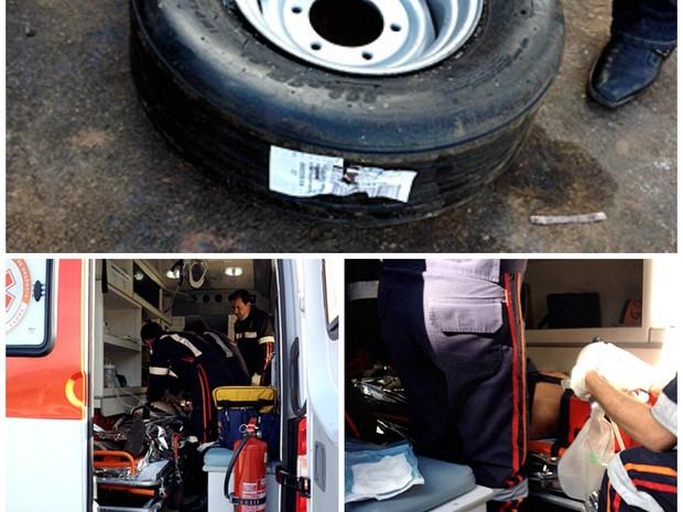 Idoso morreu após pneu estourar enquanto era enchido em São Carlos (Foto: Milton Rogério/São Carlos Agora)