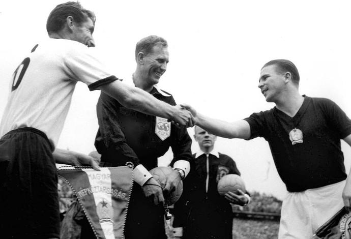 Copa do Mundo 1954 - Ferenc Puskas Hungria  (Foto: Agência AP )