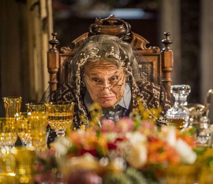 Aos 100 anos, Encarnação de Sá Ribeiro segue lutando por suas convicções mantendo-se como matriarca da família de Sá Ribeiro (Foto: Caiuá Franco/ Gshow)