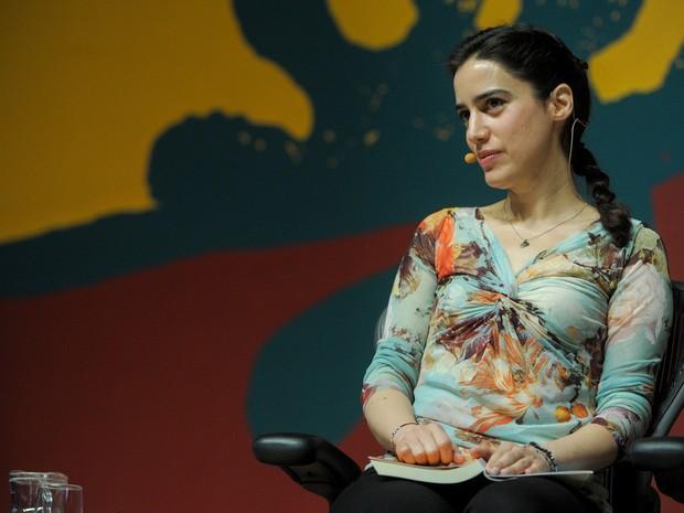 "5 de julho - Candidata a ""musa"" da Flip a francesa Lila Azam Zanganeh. (Foto: Flavio Moraes/G1)"