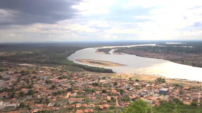 O Rio São Francisco teria nascido das lágrimas de uma índia, segundo lenda (Foto: TV Bahia)