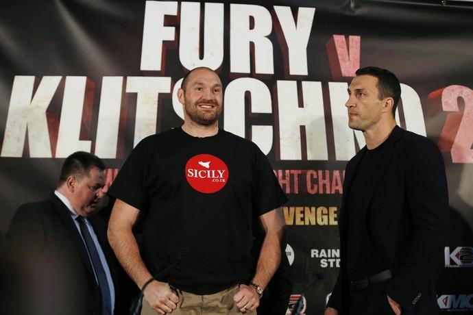 Tyson Fury e Wladimir Klitschko Boxe (Foto: Reuters)