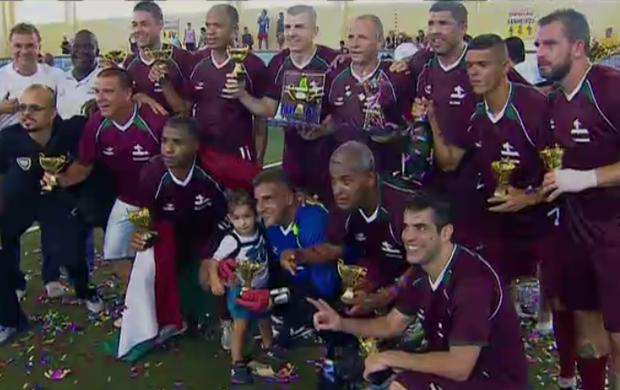 Fluminense campeão; Showbol (Foto: Reprodução SporTV)