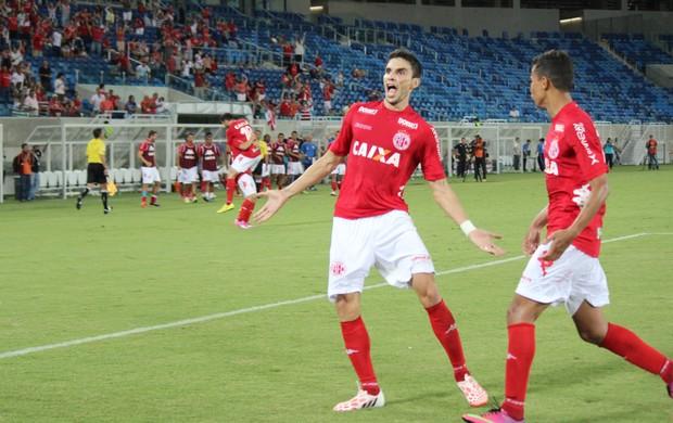 América-RN x Joinville, na Arena das Dunas - Rodrigo Pimpão, atacante do América-RN (Foto: Diego Simonetti/Blog do Major)