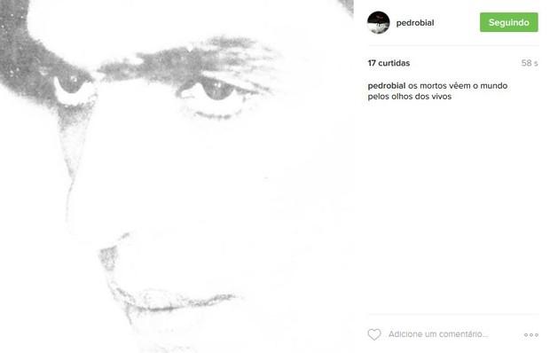 Pedro Bial homenageia Ferreira Gullar com verso do poema 'Os Mortos' (Foto: Reprodução/Instagram)