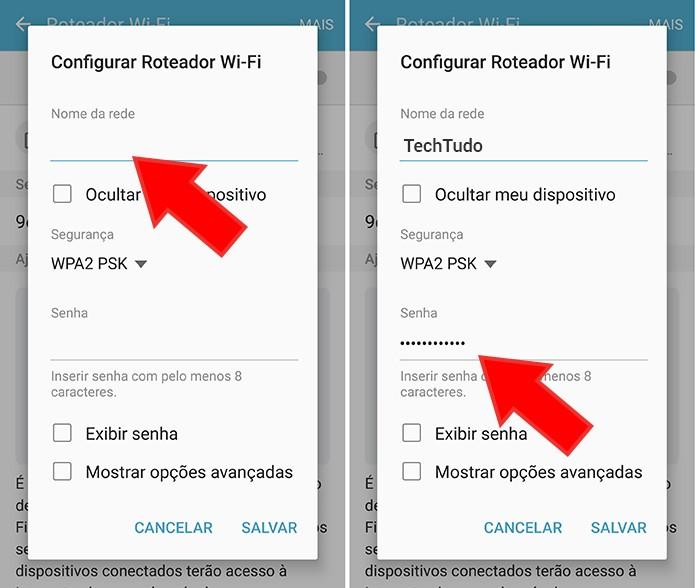 Defina nome e senha do Wi-Fi pessoal (Foto: Reprodução/Paulo Alves)