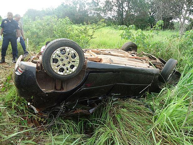 Três ocupantes do veículo morreram na hora; apenas um sobreviveu (Foto: PM-MT)