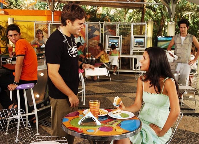 Marina Rigueira em cena com Java Mayan na temporada de 2007 de 'Malhação' (Foto: João Miguel Júnior /  TV Globo)