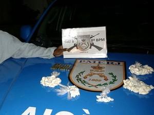 Material foi encaminhado para 146ª DP  (Foto: Divulgação/Polícia Militar)