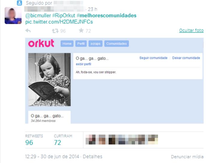 As comunidades do Orkut eram as principais atrações da rede social (Foto: Reprodução/Twitter)
