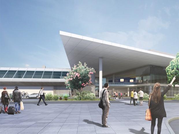 Fachada do Terminal 2 (Foto: Divulgação / BH Airport)