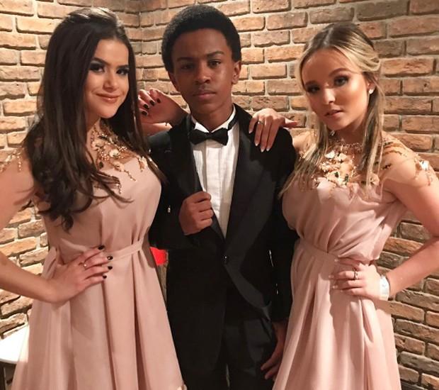 Maisa Silva, Jean Paulo Campos e Larissa Manoela (Foto: Reprodução/Instagram)