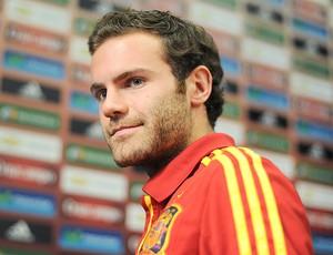 Juan Mata na coletiva da Espanha Euro (Foto: Getty Images)