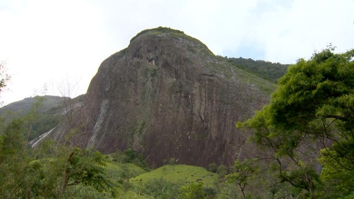Pedra do Elefante é umas das boas opções de passeio na região serrana de Guarapari (Foto: Divulgação / TV Gazeta ES)