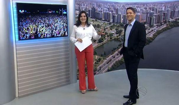 Lanne e Ricardo recebem o cantor Luiz Caldas (Foto: Divulgação/TV Sergipe)