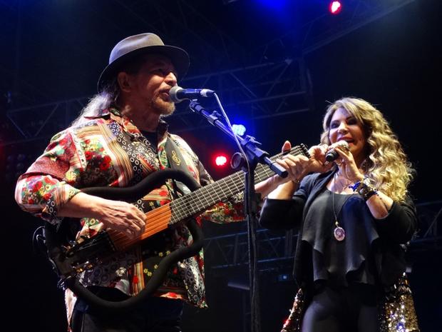 Geraldo Azevedo e Elba Ramalho no Festival de Inverno de Garanhuns (Foto: Jael Soares/ G1)